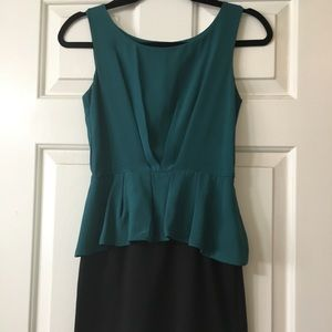 Small, Teal Blue Pencil Skirt Dress